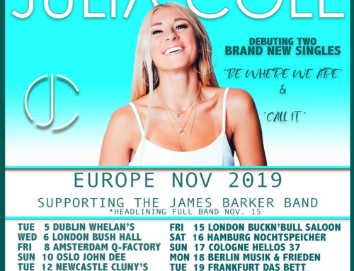 JULIA COLE ANNOUNCES NEW MUSIC AND DATES ACROSS THE UK & EUROPE IN NOVEMBER