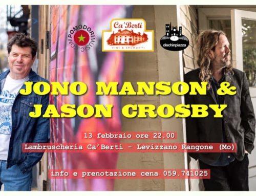 JONO MANSON & JASON CROSBY
